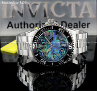 NEW Invicta Men 47mm PRO DIVER 0.03C DIAMOND Abalone Dial Stainless Steel Watch