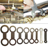 8 Pcs Saxophone Woodwind Instrument Leather Pads Repair Tools for Pad Iron