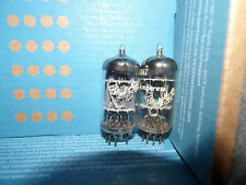 2  Excellent amperex bugle boy O getter 12ax7  tubes # U14