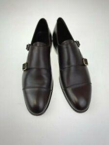 Carmina Shoemaker Unlined Double Monkstrap Size UK 9 Sineu 80729 Brown Funchal