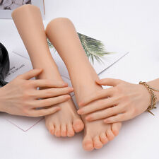 Silicone Lifesize Female Mannequin Hand Foot Display Model 1 Pair Handsfeet