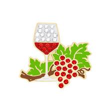 NEW Navika Wine Anyone Swarovski Crystals Golf Ball Marker with Hat Clip