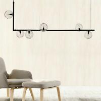 6-Light Modern Linear Bubble Chandelier Glass Ball Pendant Ceiling Light Mount