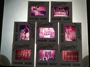 8 VINTAGE 1950s ESQUIRE SHOWGIRLS STAGE GLAMOUR RISQUE NUDE TOPLESS 35mm SLIDES