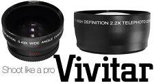 2-Pcs Lens Kit HD Telephoto & Wide Angle Lens Set For Panasonic DMC-G1 DMC-GH2