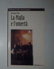 """Giuseppe Pitrè """"La Mafia e l'omertà"""" Brancato 2002 tradizioni popolari siciliane"""