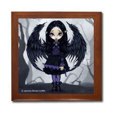 Purple Paper Hearts Faery Fairy Ceramic Tile Jewelry Box Jasmine Becket-Griffith