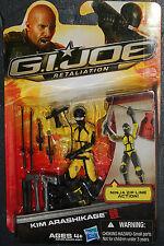 GI Joe yellow Ninja Kim Arashikage 3.75 Action Figures.