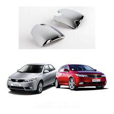 Chrome Side Mirror Cover Molding Trim LED Type for 2010 - 2012 Kia Forte 4/5Door