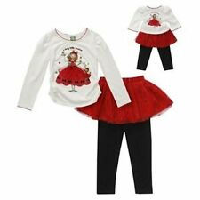 Dollie & Me SZ6X Christmas Dress Matching 18 in Doll Clothes Fits American Girl