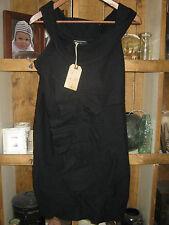 BNWT LADIES ALLSAINTS PEEKOA BLACK WOOL DRESS - UK SIZE 10, US 6 .