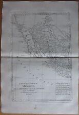 BONNE: Map California Texas Mexico  - 1780