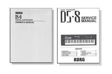 2 KORG DS-8 MANUALS - Owners Manual + Service and Parts List Manual - DS8 DS 8