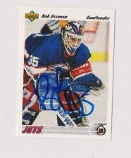 91/92 Upper Deck Bob Essensa Winnipeg Jets Autographed Hockey Card