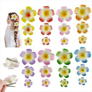 5-10PCS Plumeria Hairpin Frangipani Hair Clip Bridal Barrettes Hair Accessories