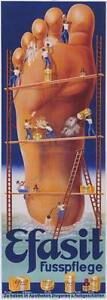 Giant Foot Vintage German Foot Care Advertising Poster Canvas Giclee 17x40 in.