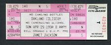 1990 Janet Jackson unbenutzt Konzert Ticket Rhythm Nation Tour Oakland Coliseum
