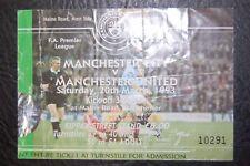 TICKET  MANCHESTER CITY V MANCHESTER UNITED 20/03/1993  PREMIERSHIP CHAMPIONS