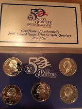 2005-S UNITED STATES PROOF COIN SET 50 STATE QUARTERS 5 COIN SET