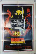1981 MORTAL COMBAT (AKA: CRIPPLED AVENGERS ) 1 SHT KUNG FU POSTER - 5 VENOMS