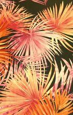 "JUNGLE Wildlife Floral Garden Jersey Stretch Fabric Dress 60"" Pink/Orange"