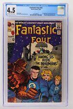 Fantastic Four #45 - Marvel 1965 CGC 4.5 1st App Lockjaw & the Inhumans!