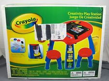 Crayola Creativity Play Station Chalkboard Art Painting Table w/ Stools #5039-02