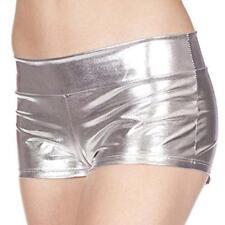 Womens Wet Look Hot Pants Metallic Shiny Shorts Clubwear Disco Tight Dance Party