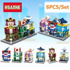 City Street View Building Blocks Toy Bricks MOC Ice Cream Shop Casino 6PCS/Set