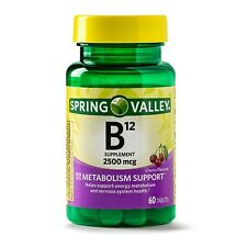 Spring Valley Vitamin B12 Tablets, 2500mcg, 60 Count