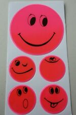 Reflektoren pink Kinder * Smileys * Sicherheit in der Dunkelheit Schulweg Licht