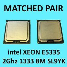 Matched Intel Xeon E5335 (B477-0534) 2GHz 8MB 1333MHz SL9YK LGA771 CPU Processor