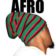 "Afro Africa Roots Jah Rastafari Tam Beanie Rasta Dancehall Reggae Marley 12"""