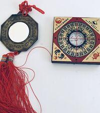 Iching Bagua / Pa Kua  Mirror Dispel Negative Energy + Feng Shui Compass Luo Pan