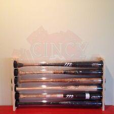 6 BASEBALL BAT DISPLAY HOLDER RACK - WALL MOUNT - HOLDS 6 BASEBALL BATS - MLB