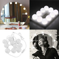 10 Bulbs Hollywood Style LED Vanity Dimmable Mirror Lamp Lights Kit Makeup tools