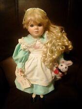 "Marie Osmond 1994 18"" Vintage Alice in Wonderland Porcelain Doll Tags Attached"