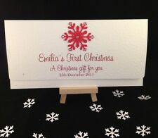 Personalised HandMade First Christmas Money / Gift Voucher Wallet