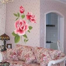 Big Flower Roses Vinyl Wall Decal DIY Art Sticker Removable Mural Bedroom Decor