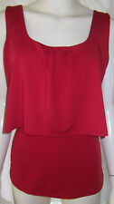 FORECAST Womens sleeveless red top with cross over back size 10 - BNWT
