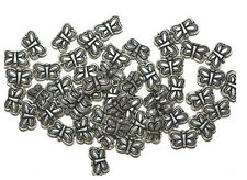 5x8mm Delicate Butterflies Antiqued Silvertone Metalized Butterfly Beads