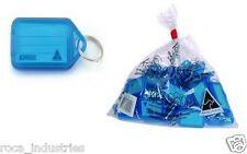Kevron Key Ring Tags Blue - ID5BG100/Blue  - Bag of 100 Tags - FREE POSTAGE !!