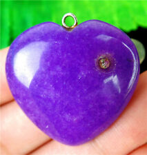 30x30x9mm Purple Malay Jade Love Heart Pendant Bead BV55743