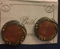 Antique Vtg Beth Barrette Collection Crystal Earrings