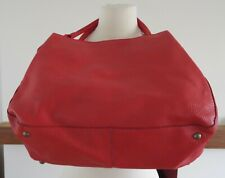 Topshop large red faux leather tote bag