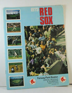 1973 BOSTON RED SOX PROGRAM AND SCOREBOOK