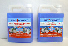 2 Wet & Forget 0.75 Gallons Moss Mold Mildew & Algae Stain Remover Concentrate