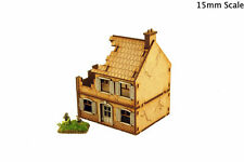 WW2 maison de ferme détruite bâtiment 15 mm Terrain Flames of War N512