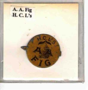 Tobacco Tag H. C. L.'s A. A. Fig