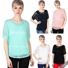 Yes Scoop Neck Short Sleeve Tops & Shirts for Women